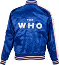 Music Memorabilia:Costumes, The Who Who Are You? World Tour Crew Jacket (1979)....
