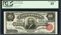 Large Size:Silver Certificates, Fr. 299 $10 1891 Silver Certificate PCGS Extremely Fine 45.. ...