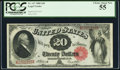 Large Size:Legal Tender Notes, Fr. 147 $20 1880 Legal Tender PCGS Choice About New 55.. ...