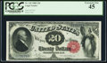 Large Size:Legal Tender Notes, Fr. 145 $20 1880 Legal Tender PCGS Extremely Fine 45.. ...
