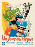 "Movie Posters:Comedy, At the Circus (MGM, 1949). First Post-War Release French Grande(47"" X 62.5"") Jean Une Poissonnie Artwork.. ..."