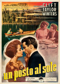 "Movie Posters:Drama, A Place in the Sun (Paramount, 1951). Italian 2 - Fogli (39.25"" X 55.5"").. ..."