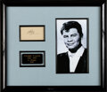 Music Memorabilia:Autographs and Signed Items, Ritchie Valens Autograph Display. A sample of Vale...
