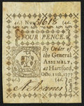 Colonial Notes:Connecticut, Connecticut October 11, 1777 4d Uncancelled Extremely Fine.. ...