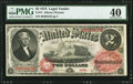 Large Size:Legal Tender Notes, Fr. 47 $2 1875 Legal Tender PMG Extremely Fine 40.. ...