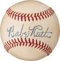 Baseball Collectibles:Balls, 1948 Babe Ruth Single Signed Baseball, PSA/DNA Mint 9.. ...