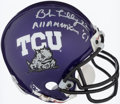 Autographs:Others, Bob Lilly Signed TCU Horned Frogs Mini Helmet With Inscription.. ...