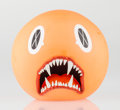 Fine Art - Sculpture, American:Contemporary (1950 to present), KAWS (American, b. 1974). Cat Teeth Bank (Orange), 2007.Painted cast vinyl. 5 x 5 inches (12.7 x 12.7 cm). Edition of 4...