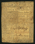 Colonial Notes:Delaware, Delaware January 1, 1776 4s Fine.. ...