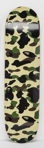 Fine Art - Sculpture, American:Contemporary (1950 to present), BAPE . Camo Skateboard, 2015. Screenprint in colors onskatedeck. 31 x 8 inches (78.7 x 20.3 cm). Published by ABathing...