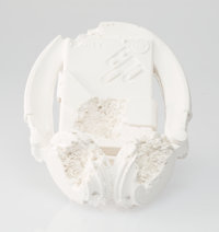 Daniel Arsham (b. 1980) Cassette Player (FR-07), 2017 Plaster with glass fragments 5-3/4 x 5-3/4