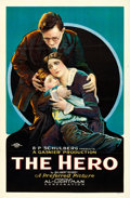 "Movie Posters:Drama, The Hero (Al Lichtman Corporation, 1923). One Sheet (26.5"" X 40.5"")Style B.. ..."
