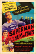 "Movie Posters:Serial, Superman and the Mole Men (International Film, 1957). French Half Grande (31.5"" X 47"").. ..."