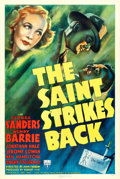 "Movie Posters:Mystery, The Saint Strikes Back (RKO, 1939). One Sheet (27"" X 41"").. ..."