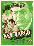 "Movie Posters:Film Noir, Key Largo (Warner Brothers, 1949). French Moyenne (23.5"" X 31.5"").. ..."