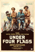 """Movie Posters:Documentary, Under Four Flags (World Film Corporation, 1918). One Sheet (28"""" X 41.25"""") Philip Martiny Artwork.. ..."""