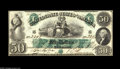 Confederate Notes:1861 Issues, T6 $50 1861. A beautiful example which ranks with the finest T-6 notes we have ever seen. The margins are even and clear of ...