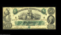 Confederate Notes:1861 Issues, T6 $50 1861. A very high grade example, albeit with a couple of miniscule tape repaired splits along with a small thin spot ...