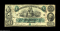 Confederate Notes:1861 Issues, T6 $50 1861. This is technically a Very Fine example with good color and paper quality, but there are several small body...