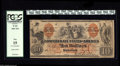"Confederate Notes:1861 Issues, T22 $10 1861. This beautiful example of the popular ""Indian Family"" type, printed in red and black by the Southern Bank Note..."