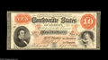 Confederate Notes:1861 Issues, T24 $10 1861. This is without a doubt one of the nicest examples of its type we've handled. The margins are clear of the des...