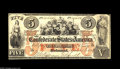 Confederate Notes:1861 Issues, T31 $5 1861. A high grade example displaying unusually vivid colors and little evident circulation. Pleasing Very Fine+....