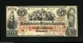 Confederate Notes:1861 Issues, T31 $5 1861. A gorgeous example which looks like a far higher grade than its technical designation. Very Fine, with exc...