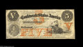 Confederate Notes:1861 Issues, T32 $5 1861. Nice examples of this scarce design type are difficult to locate, and the T32 is typically one of the last obta...
