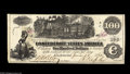Confederate Notes:1862 Issues, Two Genuine, One Counterfeit Hundred including T39 $100 1862 XFCT39/290 $100 1862 AU, tear T40 $100 1862 VF.... (3 notes)