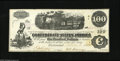 Confederate Notes:1862 Issues, T40 $100 1862. The Express Train vignette found on this issue isalso found on Obsoletes of the period, plus it lived-on...