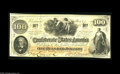 "Confederate Notes:1862 Issues, T41 $100 1862. This Trans-Mississippi example has the script ""CSA""watermark, and the notation on back ""Issued San Antonio T..."