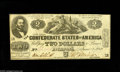Confederate Notes:1862 Issues, T42 $2 1862. This is a nice example of this issue with over 75% ofthe frame line within the trim. Crisp Uncirculated. ...