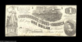 Confederate Notes:1862 Issues, T44 $1 1862. The upper left-hand corner experienced handling onthis attractive example. Choice About Uncirculated. F...