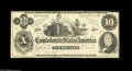 Confederate Notes:1862 Issues, T46 $10 1862. The only mention on this fully original note would bethe uneven cut at top, but, beyond that, this note will ...