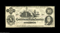 Confederate Notes:1862 Issues, T46 $10 1862. Ceres reclining on Cotton Bales, with R. M. T. Hunterdepicted at lower right of this Crisp Uncirculated e...