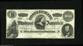 Confederate Notes:1862 Issues, T49 $100 1862. This mid-grade early Lucy Pickens note reveals a couple of pinholes and a one-eighth inch edge tear at bottom...