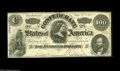 Confederate Notes:1862 Issues, T49 $100 1862. Pencilled Criswell and Chase numbers are found onthe back of this Very Fine note that has a minute top e...