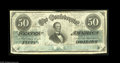 Confederate Notes:1862 Issues, T50 $50 1862. Here is another pleasing Jeff Davis example on plainpaper. Fine+....