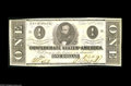 Confederate Notes:1862 Issues, T55 $1 1862. A high end example of this type that was printed onpink paper. Crisp Uncirculated....
