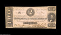 Confederate Notes:1863 Issues, T61 $2 1863. A tough note to find in this state of preservation.Uncirculated. From the Gilbert I. Stuart Collection ...