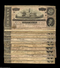 Confederate Notes:1864 Issues, T67 $20 1864. A nice group lot of 13 pieces, with grades ranging from Very Good to Extremely Fine+, with the average... (13 notes)