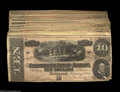 Confederate Notes:1864 Issues, T68 $10 1864. A nice lot of fifty pieces, most all grading Very Fine or better, with several considerably higher grade. ... (50 notes)