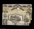 Confederate Notes:Group Lots, Four Confederate Counterfeits including CT18/107 $20 1861 VFCT20/141 $20 1861 CU CT36/278 $5 1861 Fine CT... (4 notes)
