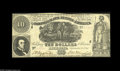 Confederate Notes:Group Lots, T30 $10 1861 F-VF T57 $50 1863 CU, once mounted. The $50 haspencilled collector notations on the back. ... (2 notes)