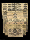 Confederate Notes:Group Lots, A Confederate Grouping, including T36 $5 1861 T42 $2 1862 T39 $1001862 (3) T44 $1 1862 T45 $1 1862... (11 notes)