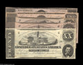 Confederate Notes:Group Lots, 1862 Starter Set including T51 XF-AU, T52 CU, T53 CU, T54 ChoiceCU, T55 Choice AU. From the Collecti... (5 notes)