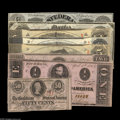 Confederate Notes:Group Lots, 1863 Starter Set including T56 Choice CU, T57 CU, T58 XF T59 CU,pencil notation; T60 CU, T61 XF, ... (8 notes)