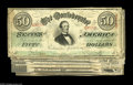 Confederate Notes:Group Lots, Confederate 1863 Issues including T57 $50 (2) Fine; T58 $20 (4) VGor better; and T59 $10 (2) AU, missing corner... (8 notes)