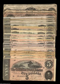 Confederate Notes:Group Lots, Confederate 1864 Issues including T65 $100, T66 $50 (3), T67 $20(4), T68 $10 (9), and T69 $5 (5). Many of the notes in this... (22notes)