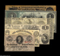 Confederate Notes:Group Lots, Numismatic Dealer Advertising Notes including Chicago, IL- RareCoin Company of America, Inc. Ad Note - Host Note Facsi... (6notes)